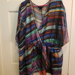 Lane Bryant semi shear tunic top 26/28